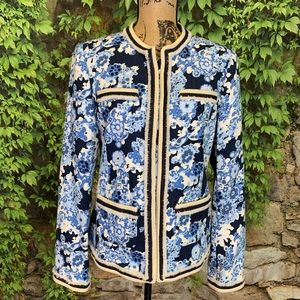 TORY BURCH Floral Fringed Jacket, 10